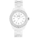 GOTO 晶亮風尚陶瓷晶鑽腕錶-白銀-39mm