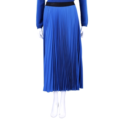 Max Mara-SPORTMAX 藍色百摺設計長裙