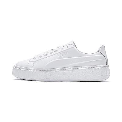 PUMA-Platform Seamless Wns女休閒鞋-白色