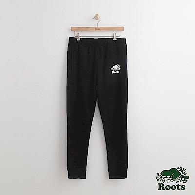 Roots 男裝-休閒棉質長褲-黑色