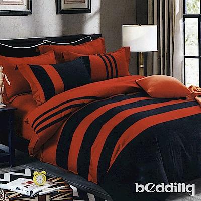 BEDDING-活性印染 特大6x7尺床包三件組-格律-紅
