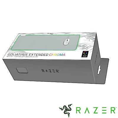 Razer Goliathus Chroma Extended 重裝甲蟲幻彩 滑鼠墊(白)