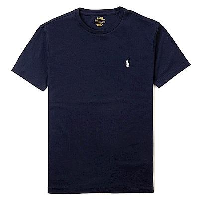 Polo Rlaph Lauren 熱銷小馬圓領素面短袖T恤(女)-深藍色