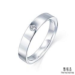 點睛品 Promessa 深情承諾 0.05克拉鑽石戒指-女戒