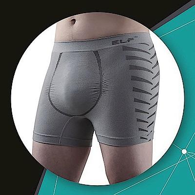 三合豐 ELF 男性竹炭+銀纖維機能美型四角平口內褲