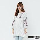 H:CONNECT 韓國品牌 女裝-民族風繡花綁帶洋裝-黑
