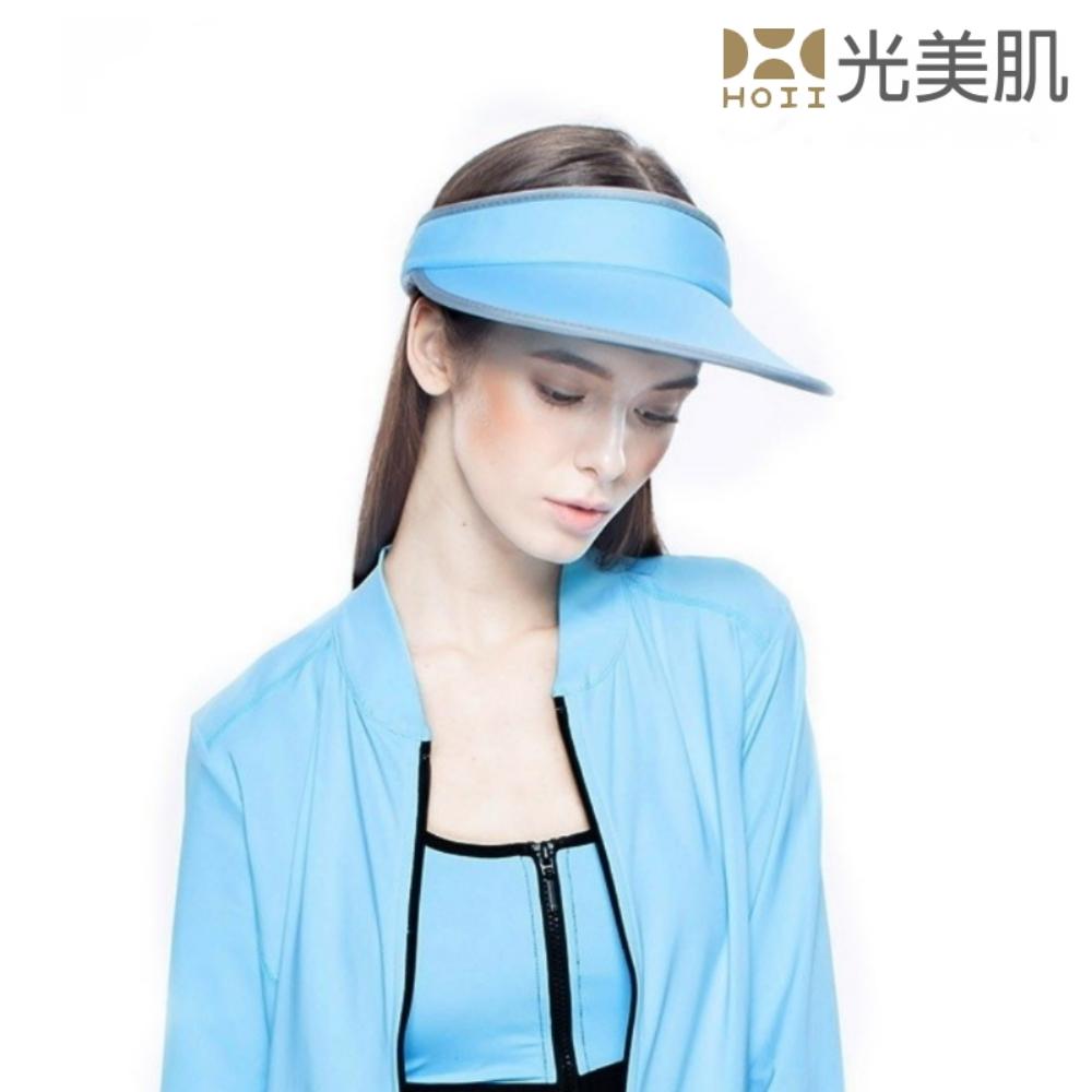 HOII光美肌-后益先進光學布機能美膚光防曬大太陽帽(藍光)