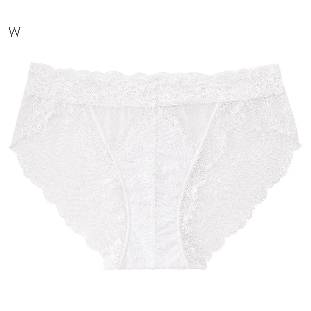 aimerfeel 全蕾絲薄紗內褲-白色-667221-W