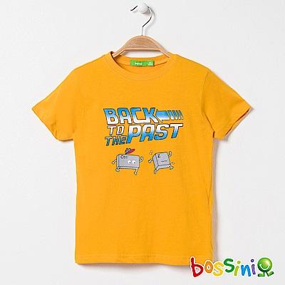 bossini男童-印花短袖T恤07亮橘