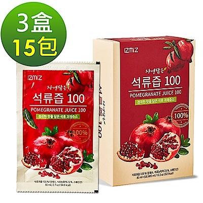 韓國IZMiZ逸直美 高濃度紅石榴鮮榨美妍飲x3盒(15包)+ DV醇耀姸 (青春活化果+白藜蘆醇)x8盒