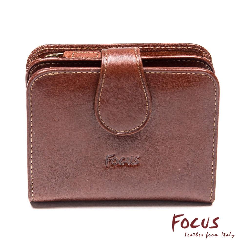 FOCUS經典原皮壓扣式零錢短夾(FTC3303)
