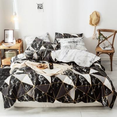 A-ONE 磨毛H系列-雪紡棉磨毛加工處理-加大床包兩用被組-完美無瑕