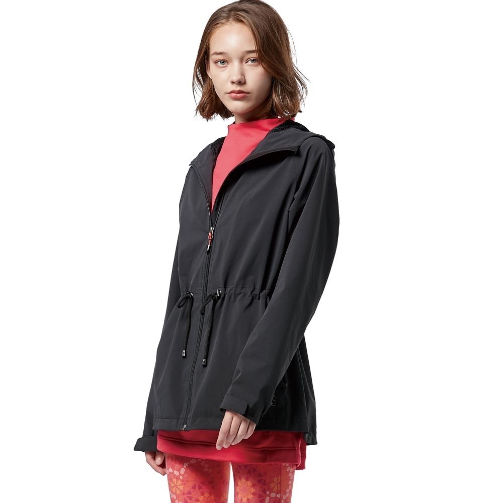 【WILDLAND荒野】女三層竹炭膜防風連帽外套黑色