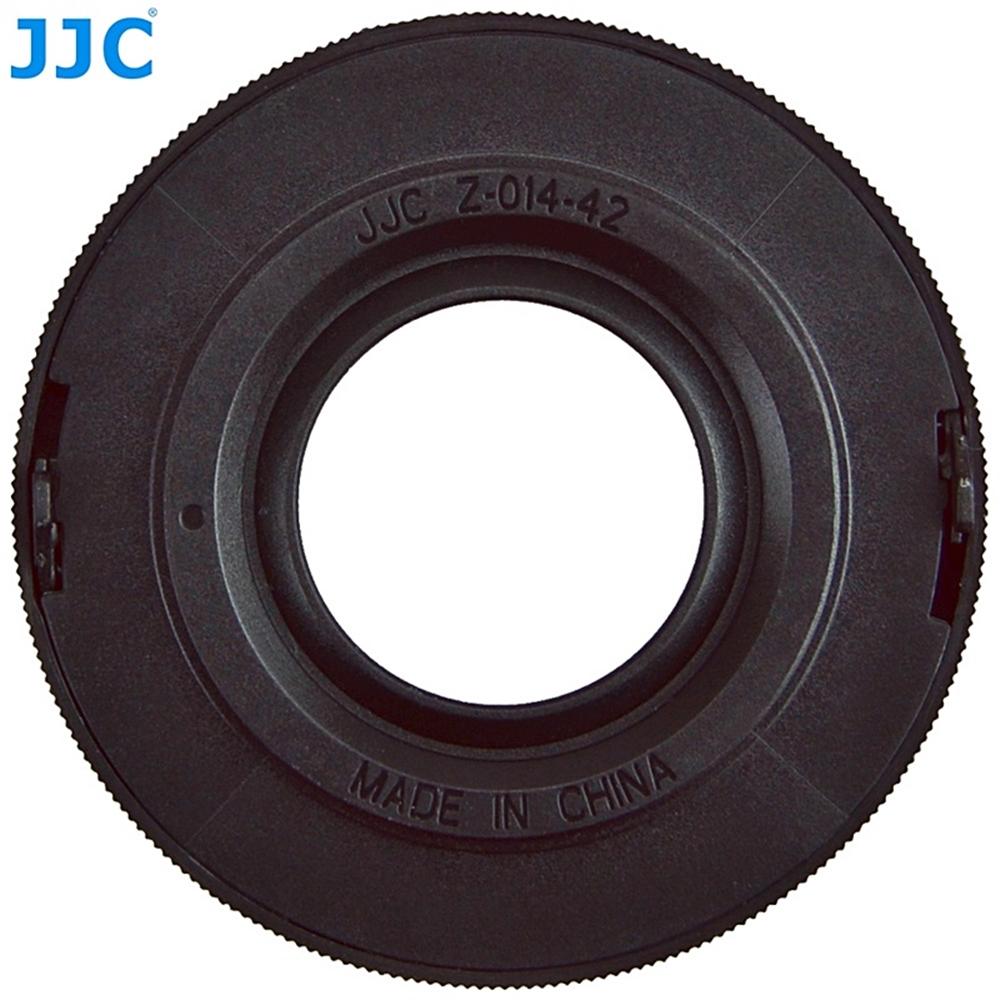 JCC自動蓋Z-O14-42,銀色,黑色適Olympus MZD 14-42mm f3.5-5.6 EZ(即第四代14-42鏡頭)