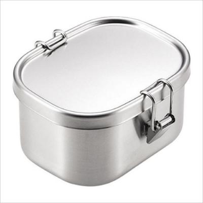 日本製 AIZAWA/相澤工房 扣環式不鏽鋼保存盒 500ml
