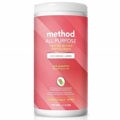 Method 美則 全效居家清潔濕紙巾-粉紅葡萄柚 70入