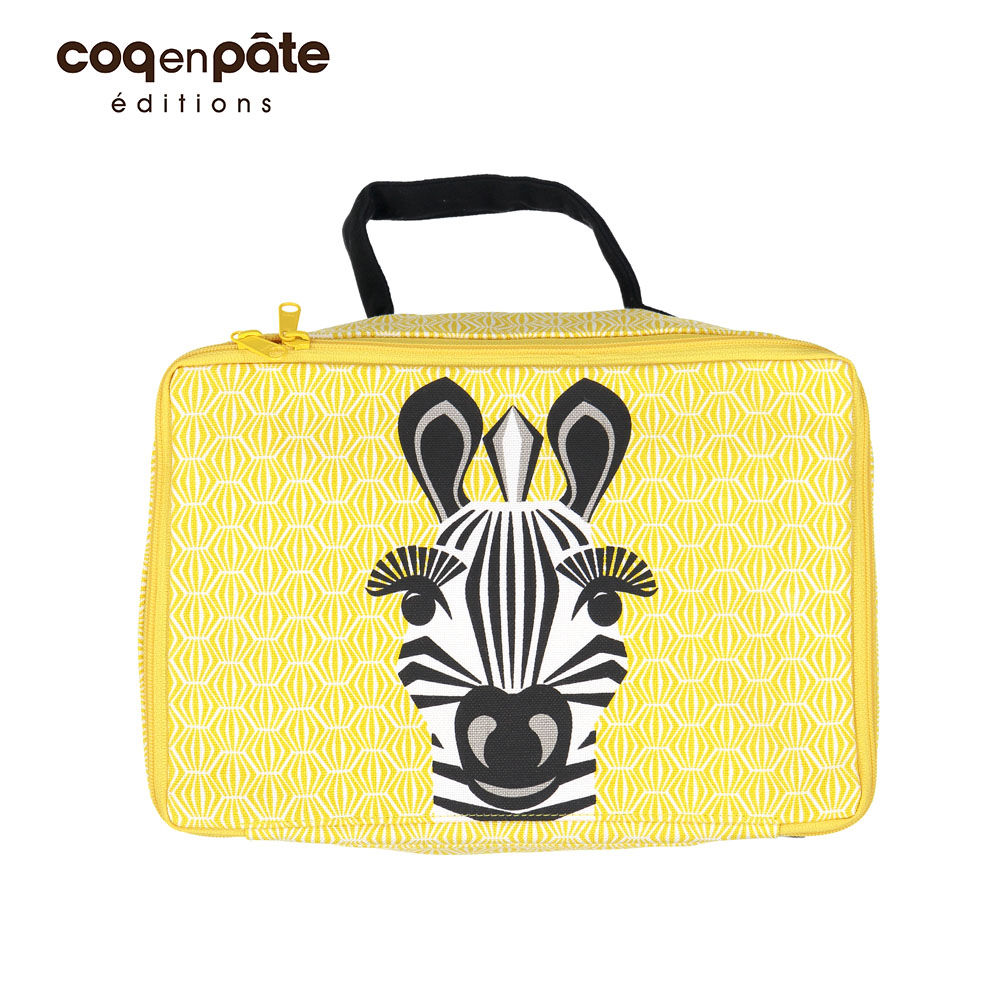 【COQENPATE】法國有機棉布包-方方兒拎出門- 斑馬