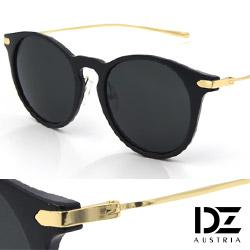 DZ 簡約意象 抗UV 防曬太陽眼鏡造型墨鏡(黑框灰片)