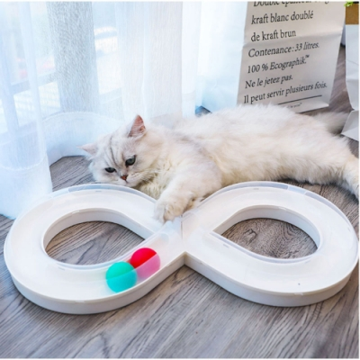 寵愛有家-旋轉逗貓8字軌道寵物玩具(貓咪玩具)