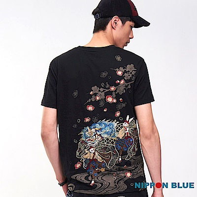 日本藍-BLUE-WAY-進口金標-雪兔舞獅短TE