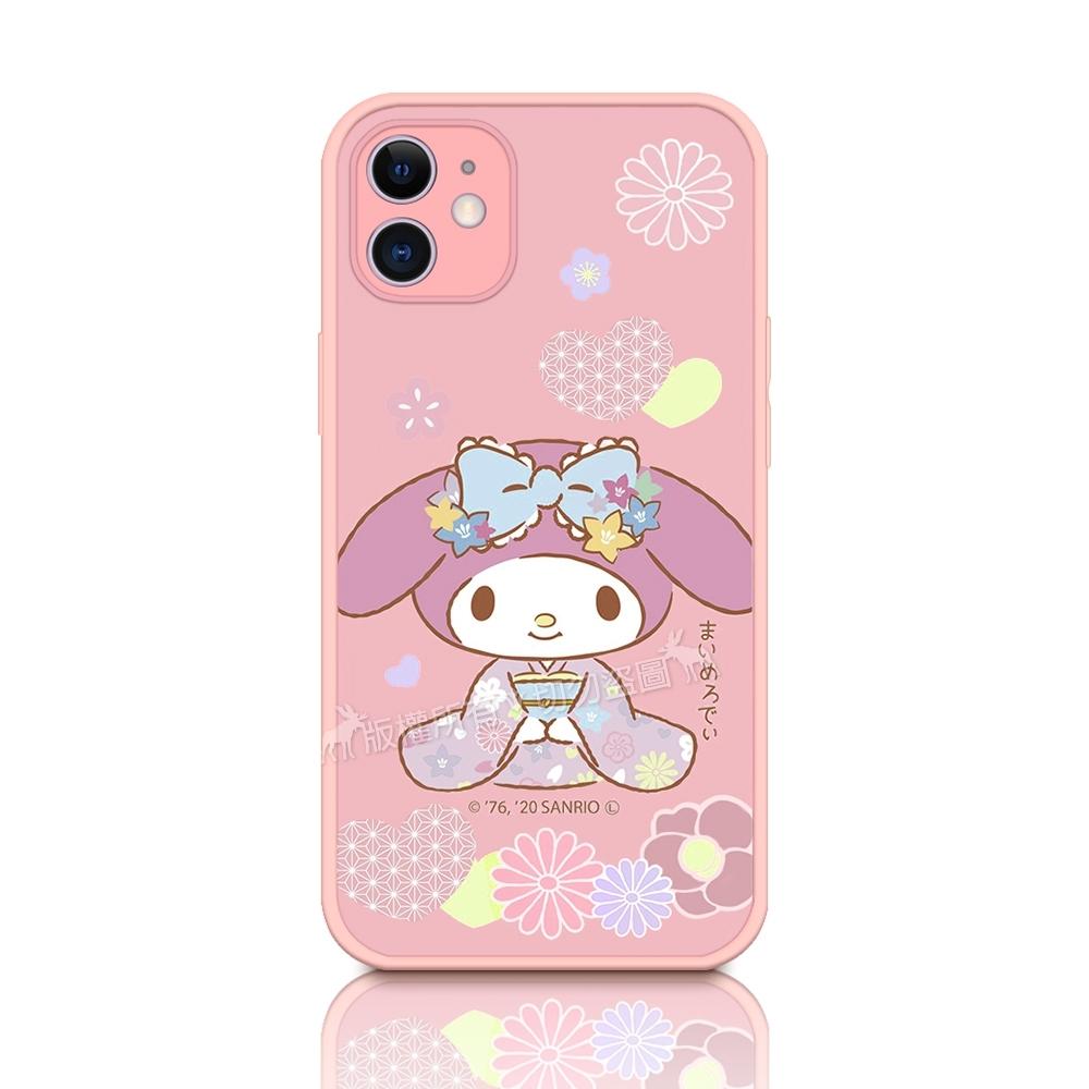 正版授權 My Melody 美樂蒂 iPhone 11 6.1吋 粉嫩防滑保護殼(櫻花祭典)