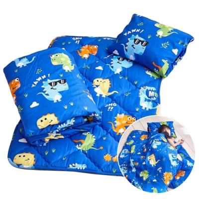 [限搶68折再送襪子] 吸濕排汗材質MIT可拆洗兒童睡袋三件組(共10款任選)