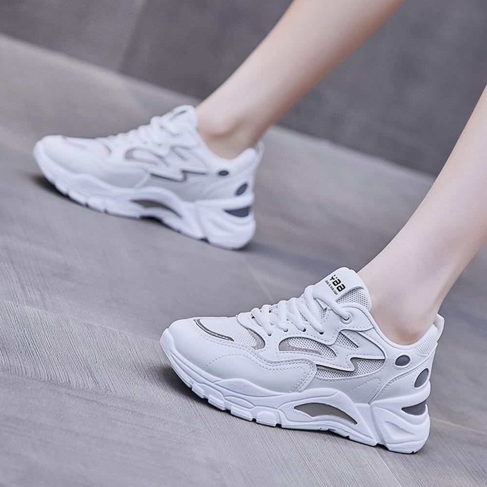 LN 現+預 撞色休閒厚底老爹鞋(老爹鞋/休閒鞋) (白)