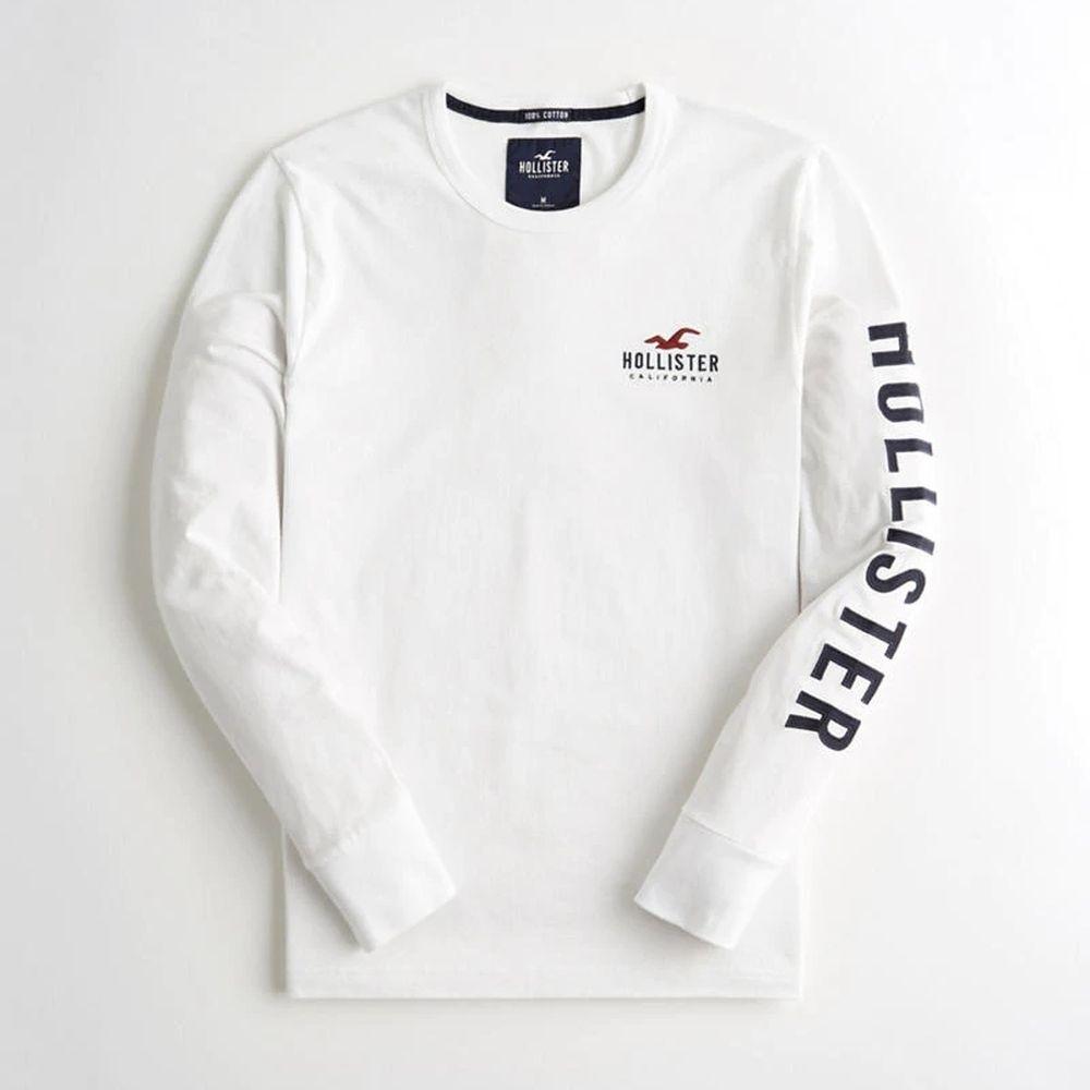Hollister HCO 長袖 T恤 白色  1422