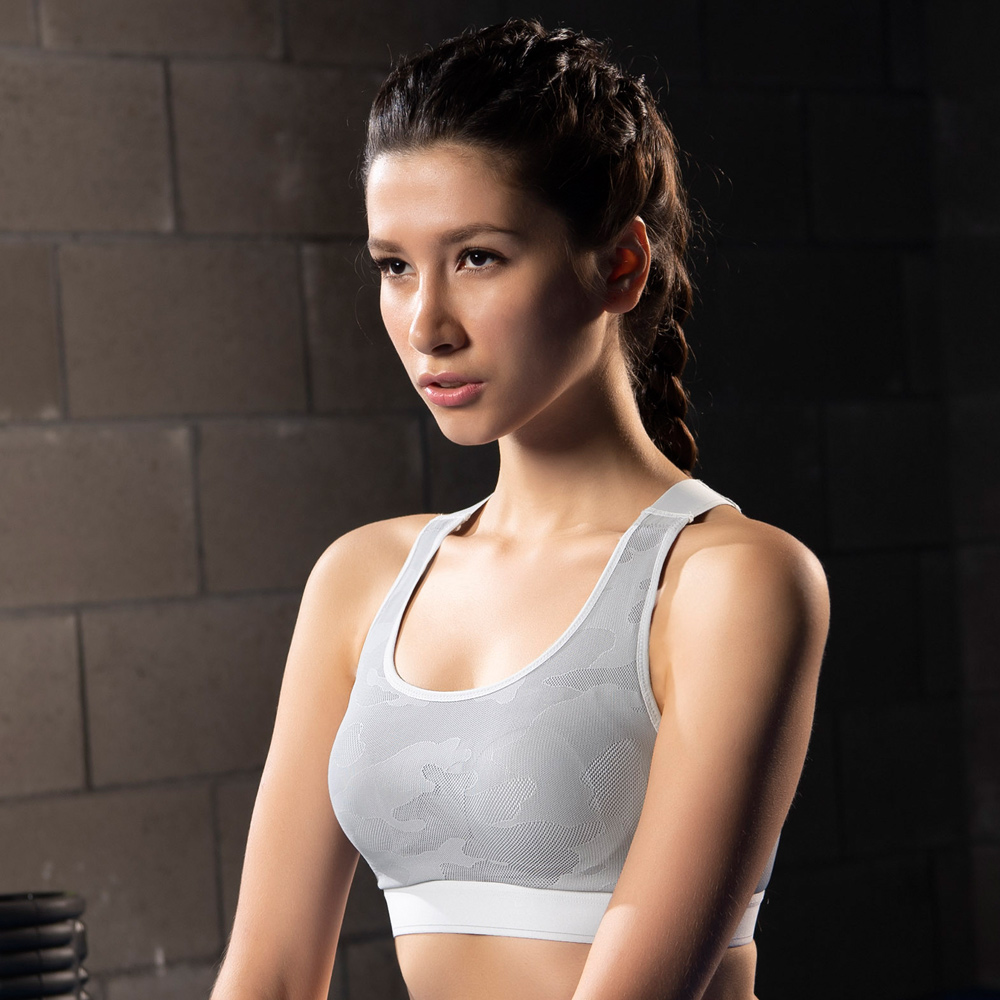 華歌爾-放膽穩型C-E 罩杯專業運動內衣(灰)雙W專利