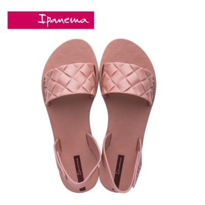 Ipanema  GO TREND菱格紋一字涼鞋-粉