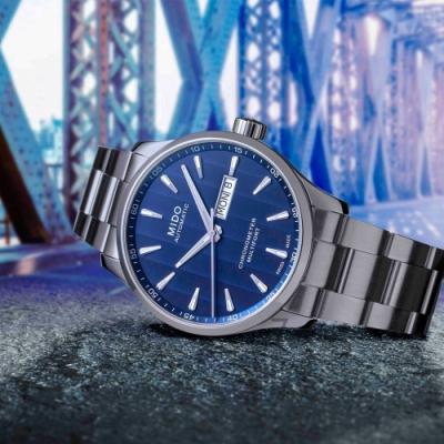 MIDO美度MULTIFORT CHRONOMETER天文台機械錶-藍/42mm