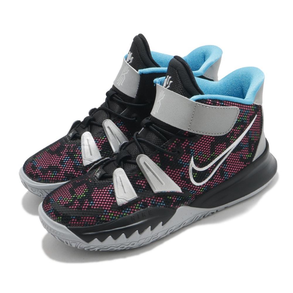 Nike 籃球鞋 Kyrie 7 PS 反光 運動 童鞋 明星款 避震 包覆 球鞋 中童 黑 銀 CT4087008
