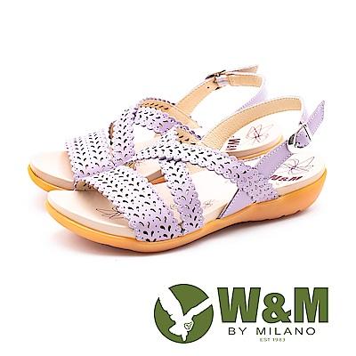 W&M 鏤空桂冠健走健塑涼鞋 女鞋-紫(另有黃)