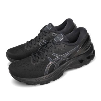 Asics 慢跑鞋 Gel-Kayano 27 運動休閒 女鞋 亞瑟士 路跑 輕量 高支撐 亞瑟膠 黑 1012A649002