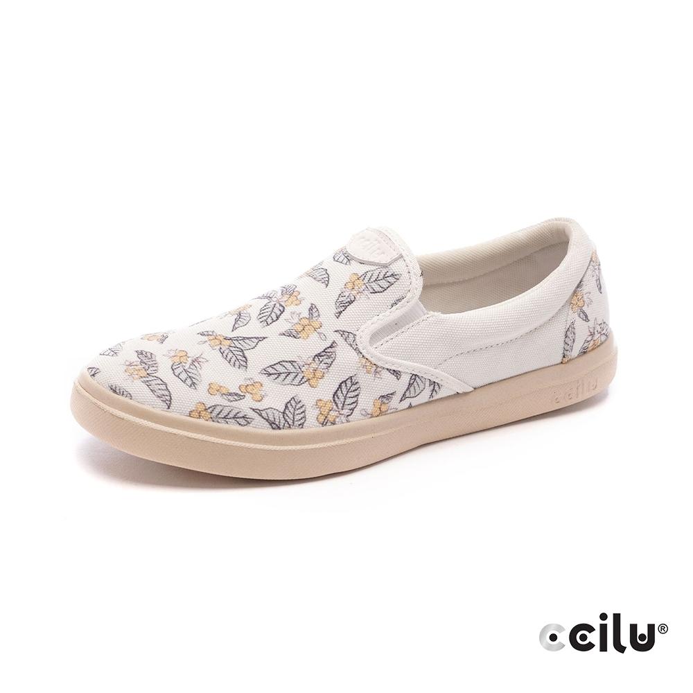 CCILU再生咖啡渣超輕量休閒鞋-女款-302422215(咖啡花)