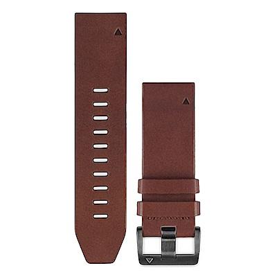 GARMIN QUICKFIT 22mm 咖啡棕皮革原廠錶帶