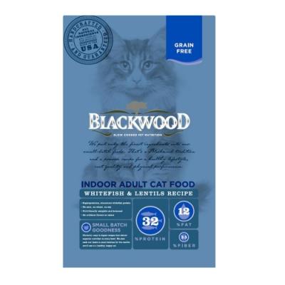 BlackWood 柏萊富 極鮮無穀 室內成貓配方(白鮭魚+扁豆)4磅
