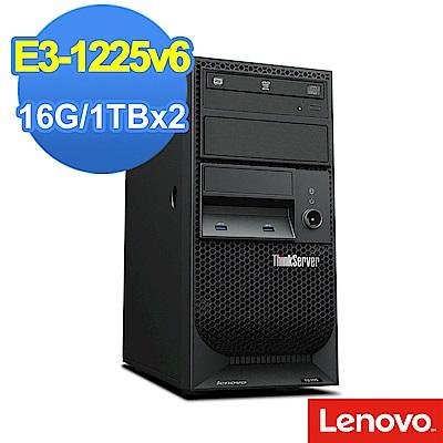Lenovo TS 150  E 3 - 1225 v 6 / 16 G/ 1 TBx 2 /FD