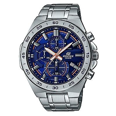 CASIO 絕世悍將賽車設計風格不鏽鋼腕錶-藍面(EFR-564D-2A)/47mm