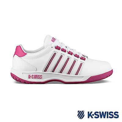 K-SWISS Court Pacoima休閒運動鞋-女-白/莓紅