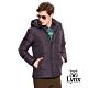 【Lynx Golf】男款防風連帽LXG系列羽絨長袖外套-黑色 product thumbnail 2