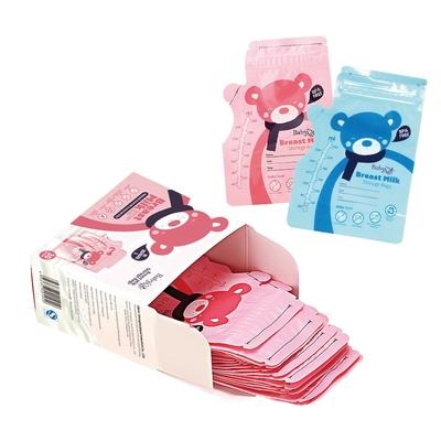 JoyNa【3盒入】BabyAge母乳儲奶袋250ml小熊母乳冷藏保鮮袋30片