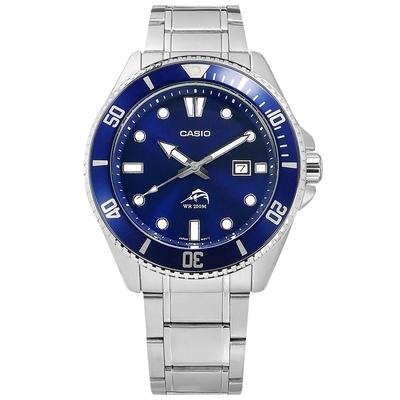 CASIO 卡西歐  / 雙錶帶可替換 潛水錶 槍魚系列 水鬼 防水 日期 不鏽鋼手錶-藍色/44mm