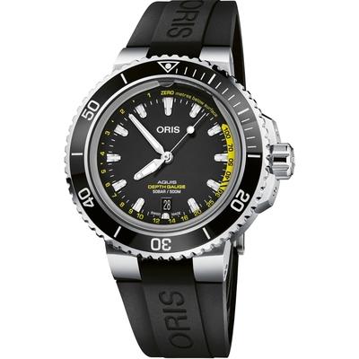 Oris豪利時 Aquis Depth Gauge 深度測量錶 0173377554154-SetRS-45.8mm