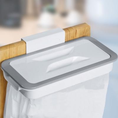 EZlife附蓋掛式廚餘垃圾袋架