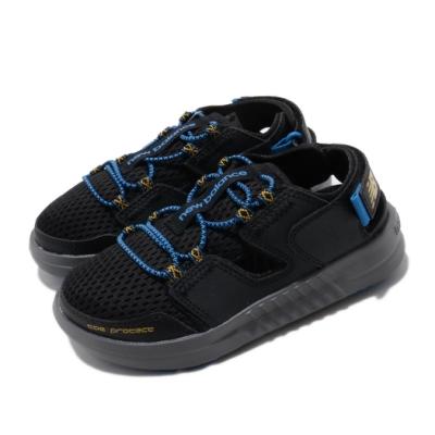 New Balance 涼拖鞋 YTTRKLB1 W 寬楦 運動 童鞋 紐巴倫 輕便 舒適 魔鬼氈 穿搭 中童 黑 藍 YTTRKLB1W
