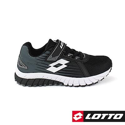 LOTTO 義大利 童 SPEEDRIDE 雙密度跑鞋 (黑)