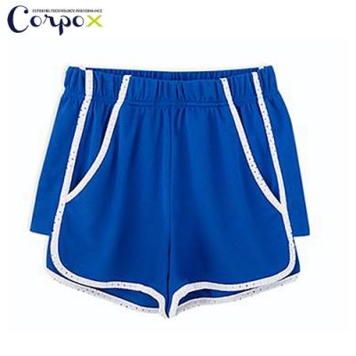 CorpoX 女款強悍吸排mesh網眼運動短褲-寶藍