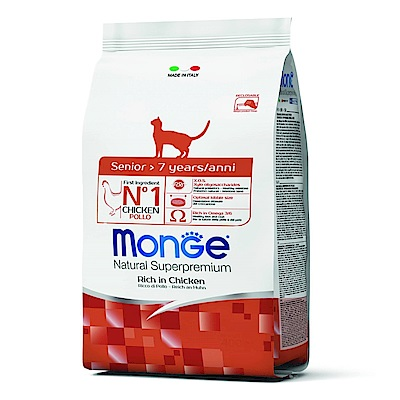 Monge Natural 天然特選 熟齡貓 雞肉配方 0.4KG 兩包組