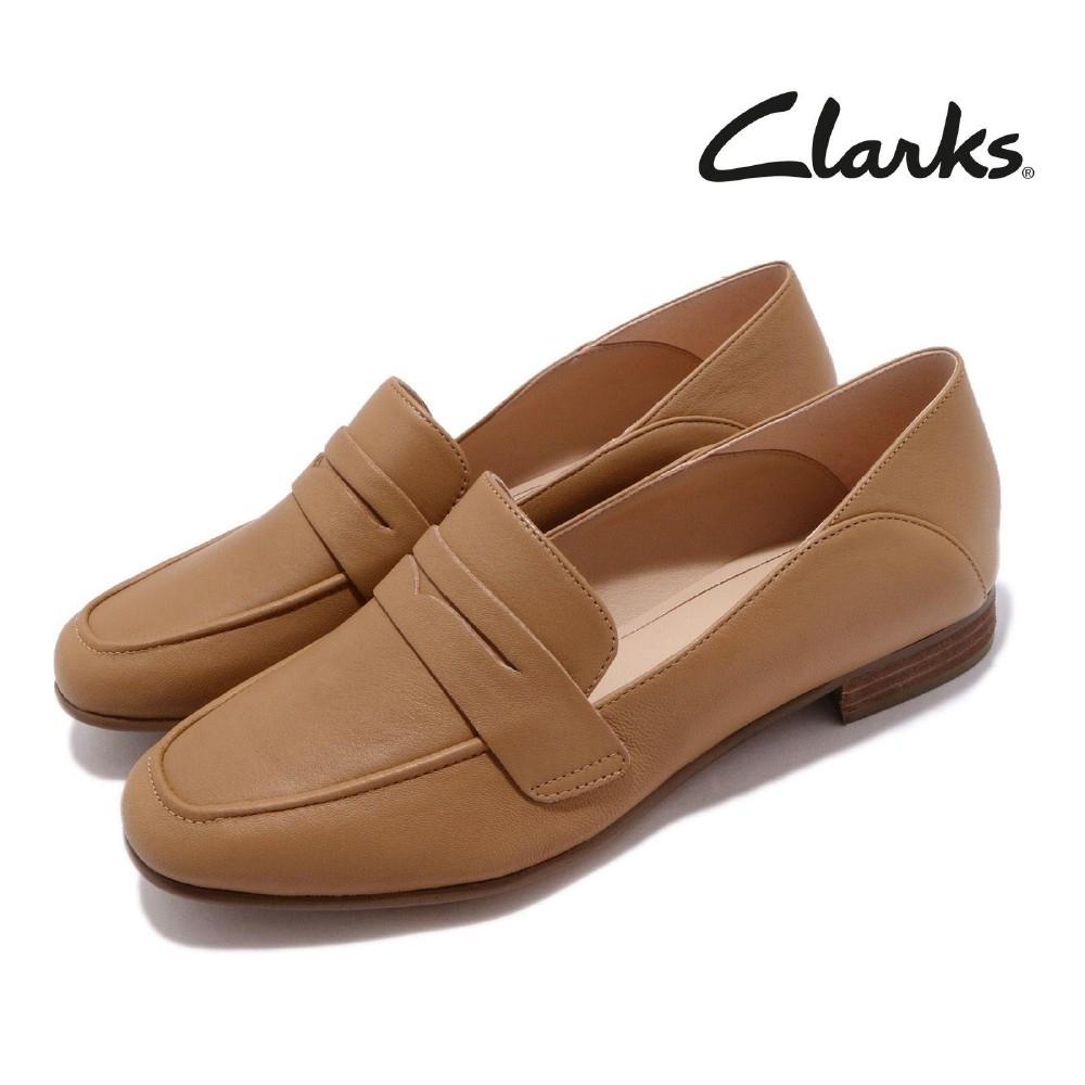 Clarks 低跟鞋 Pure Iris 正裝 真皮 皮革 女鞋